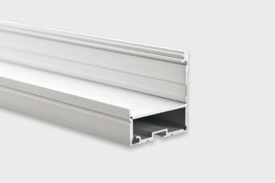 Perfil de alum nio anodizado de canto para fita led - Perfil aluminio anodizado ...